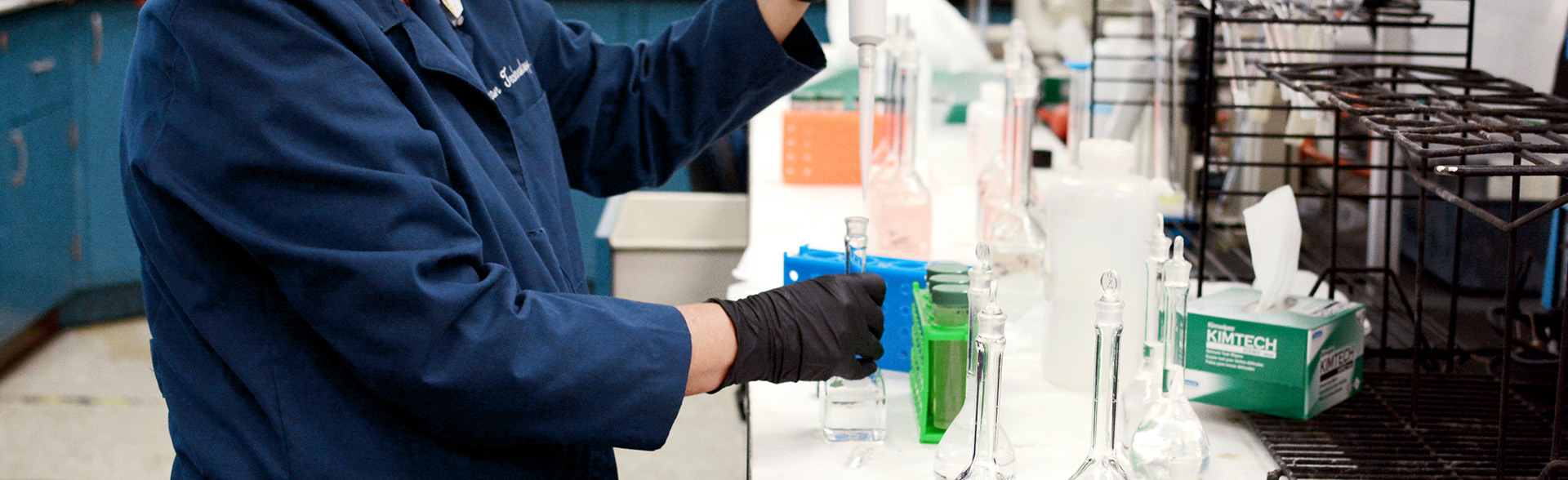 Classical chemical analysis performed by skilled scientists
