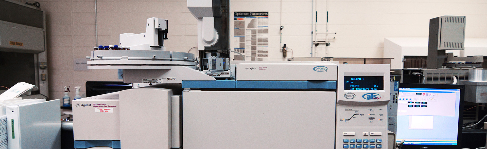 GC-MS for the analysis of organic materials